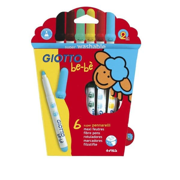 Giotto Be-Be Super Fibre Washable Pens Pack